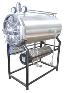 cylindrical autoclave sterilizer